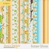 Summer Blooms Papers