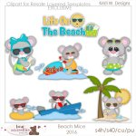 Beach Mice 2016 Clipart Store Exclusive