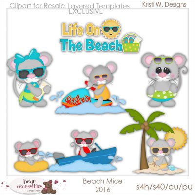 Beach Mice 2016 Templates Store Exclusive