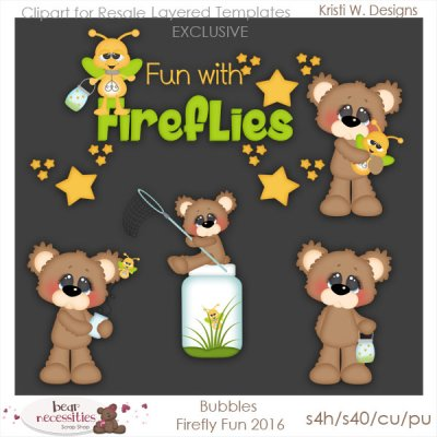 Bubbles Firefly Fun 2016 Templates Store Exclusive