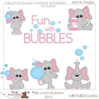 Ellie Loves Bubbles 2016 Templates Store Exclusive