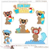 Bubbles Loves the Beach 2016 Clipart Store Exclusive